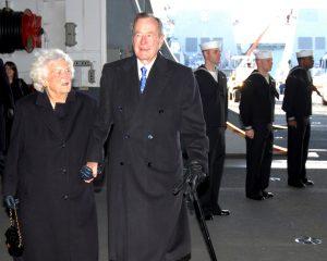 George H. Bush ricoverato